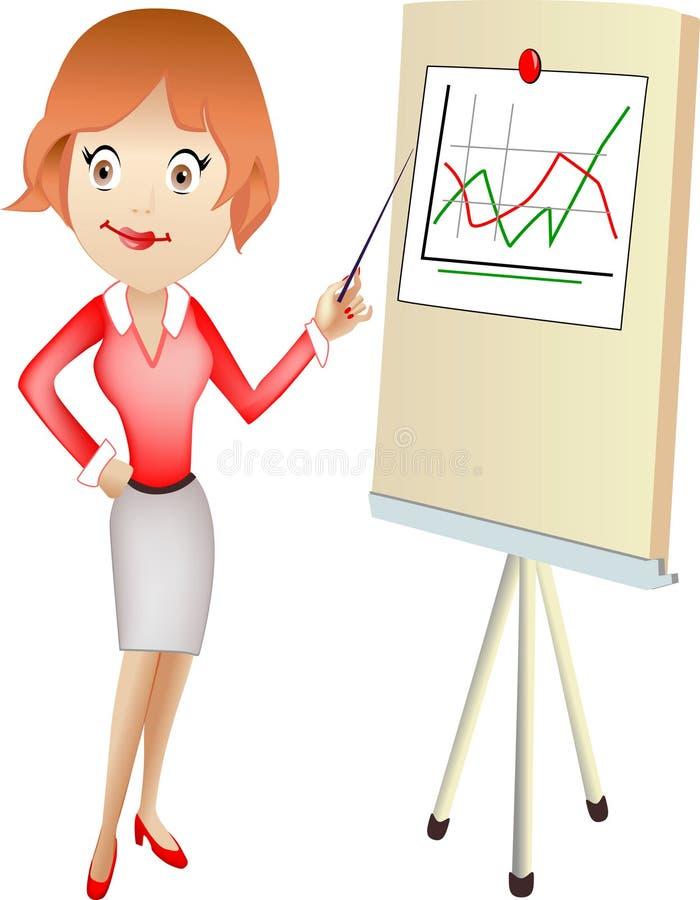 Señora de la oficina stock de ilustración
