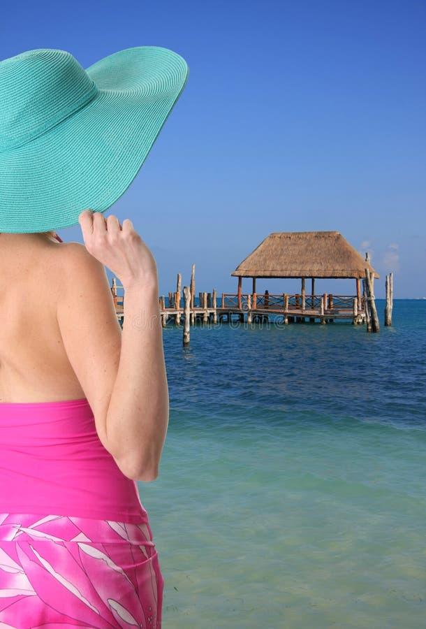 Señora de la playa fotos de archivo libres de regalías