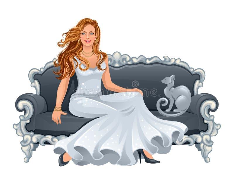 Señora de lujo stock de ilustración
