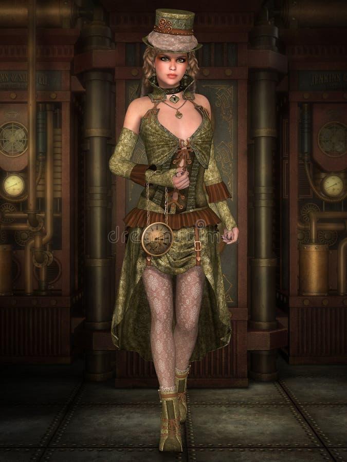 Señora de Steampunk libre illustration