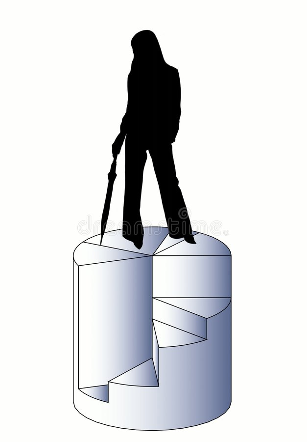 Señora del asunto libre illustration