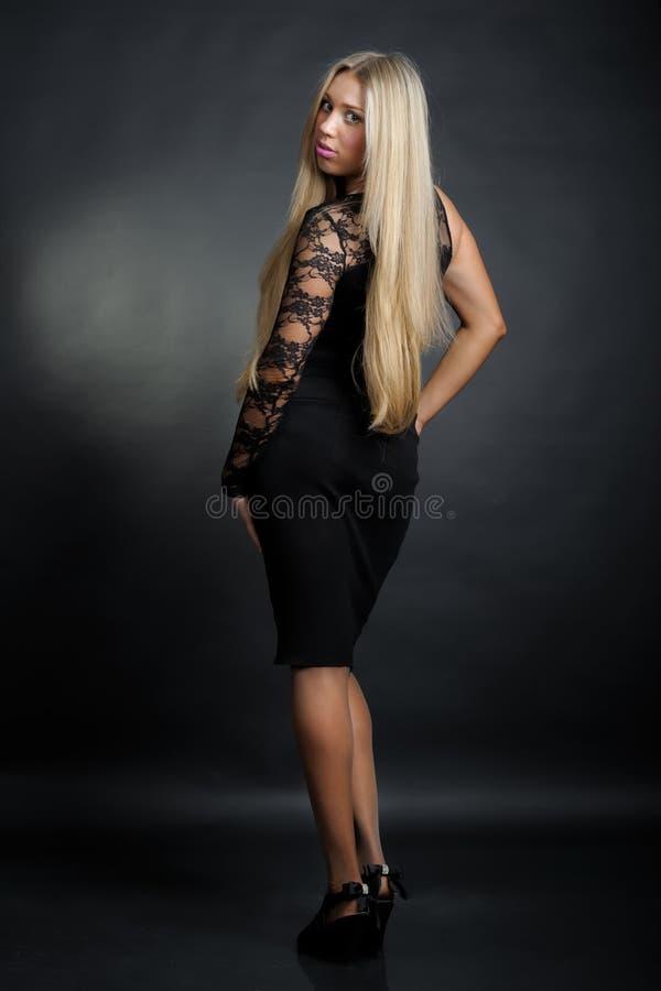 Señora del blonde del asunto fotografía de archivo