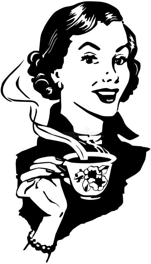 Señora del café libre illustration