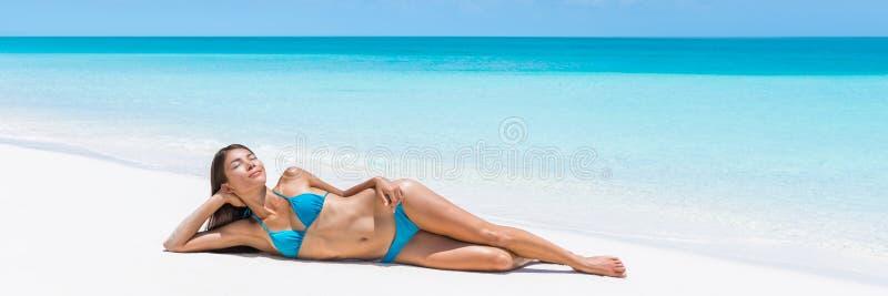 Señora del Caribe del destino de la playa de la partida de la turquesa imagen de archivo libre de regalías