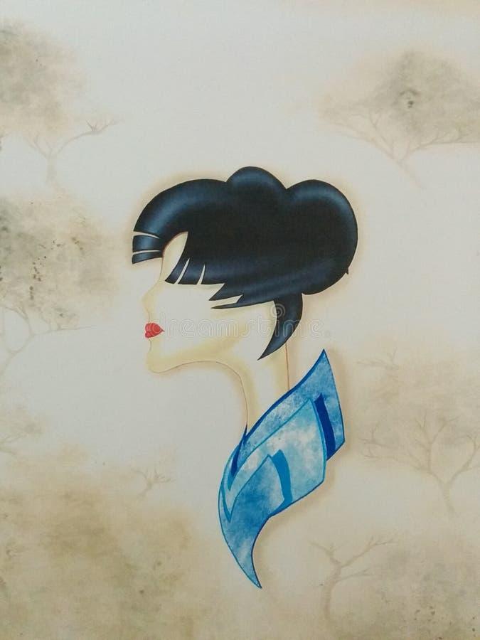 Señora del geisha fotos de archivo libres de regalías