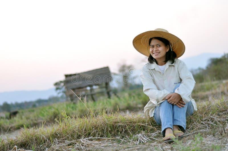 Señora del granjero fotografía de archivo