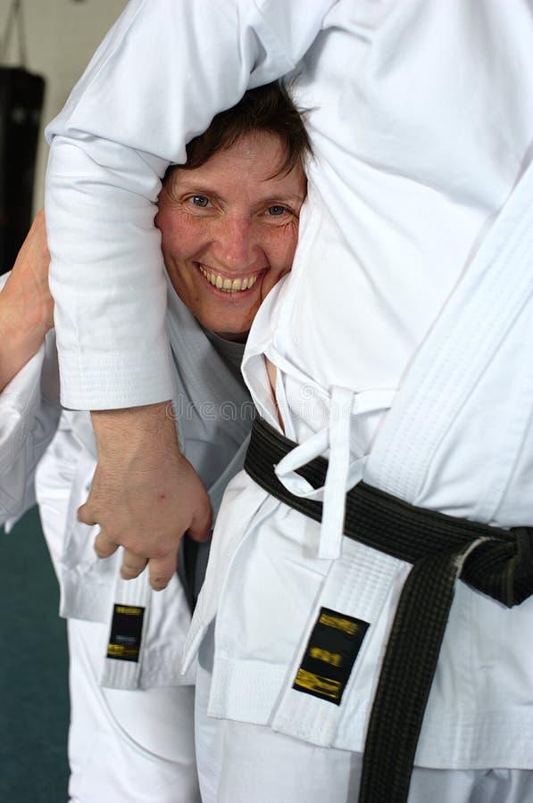 Señora del karate imagenes de archivo