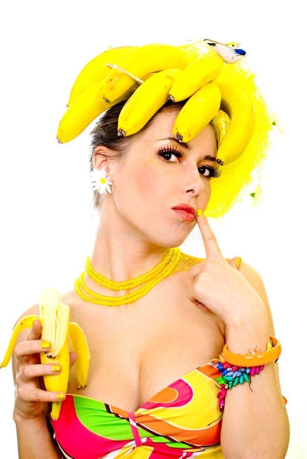Señora del plátano fotos de archivo libres de regalías