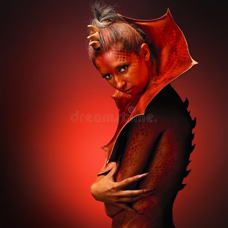 Señora Dragon foto de archivo