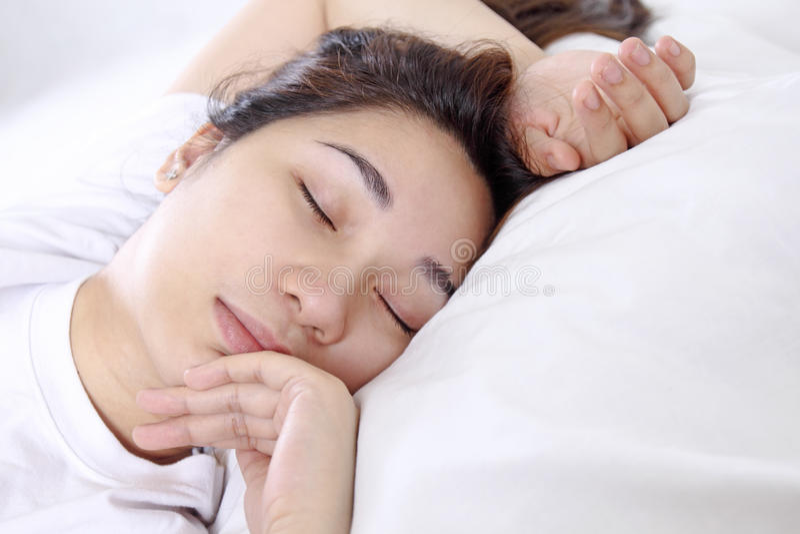 Señora durmiente imagen de archivo