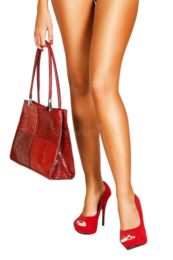 Señora en rojo. foto de archivo libre de regalías