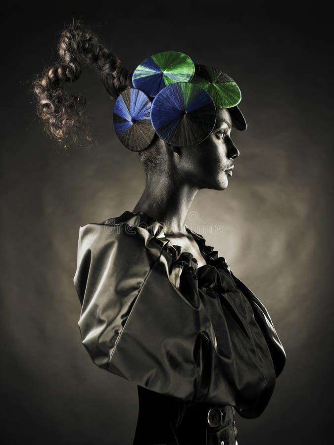 Señora extranjera hermosa foto de archivo libre de regalías