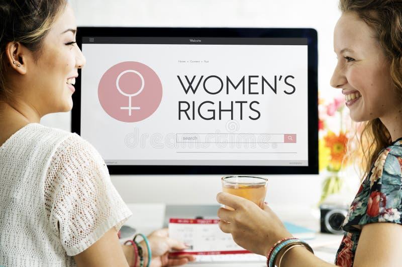 Señora femenina Feminism Concept de la muchacha de la mujer de las derechas de las mujeres imagen de archivo libre de regalías