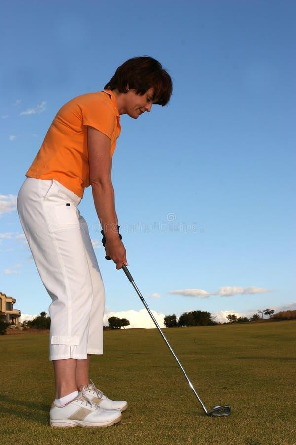 Señora Golfer foto de archivo