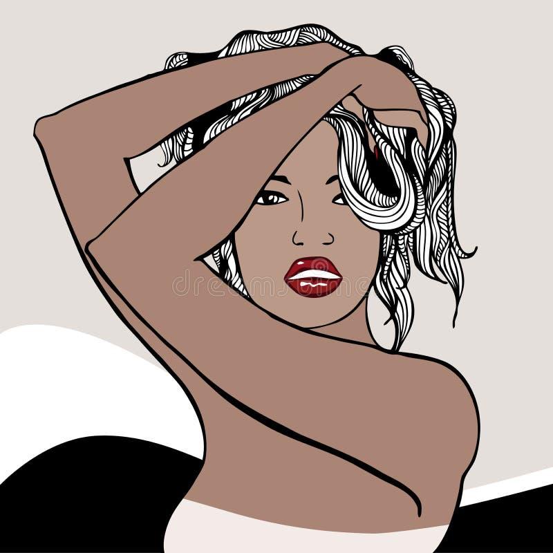 Señora hermosa libre illustration