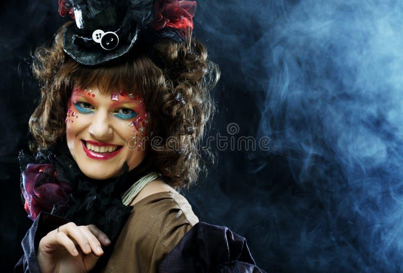 Señora hermosa con maquillaje artístico foto de archivo libre de regalías