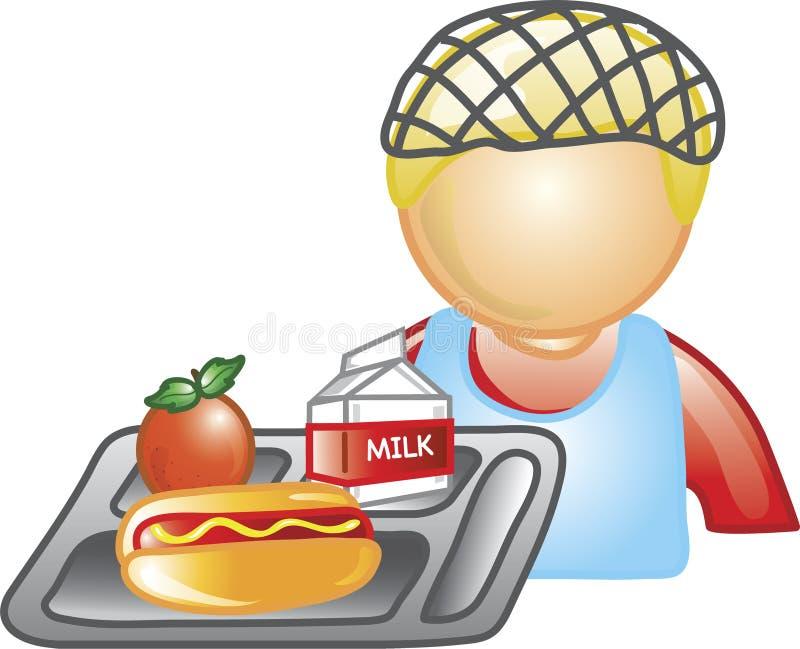 Señora icono del almuerzo stock de ilustración