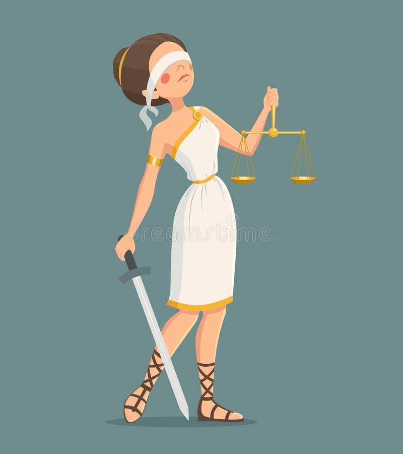 Señora Illustration de la justicia stock de ilustración