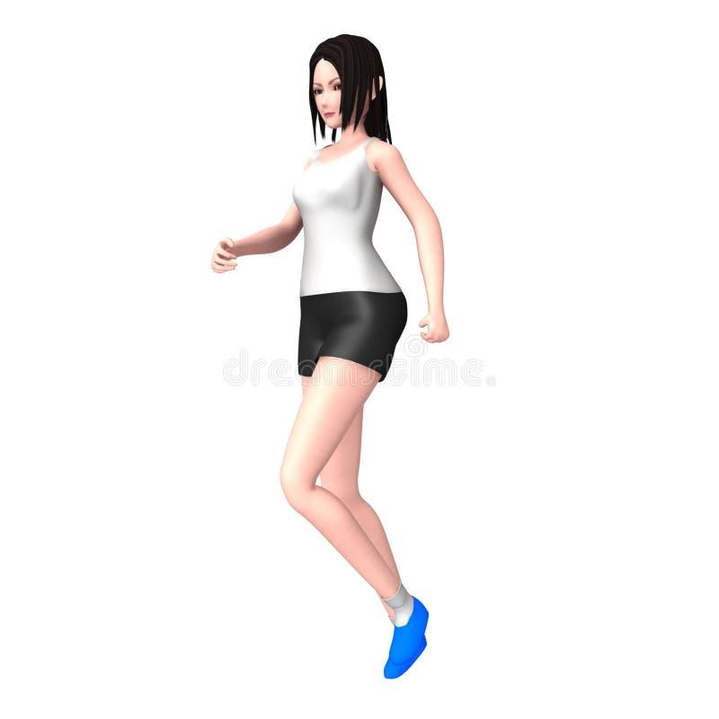 Señora Jogging ilustración del vector