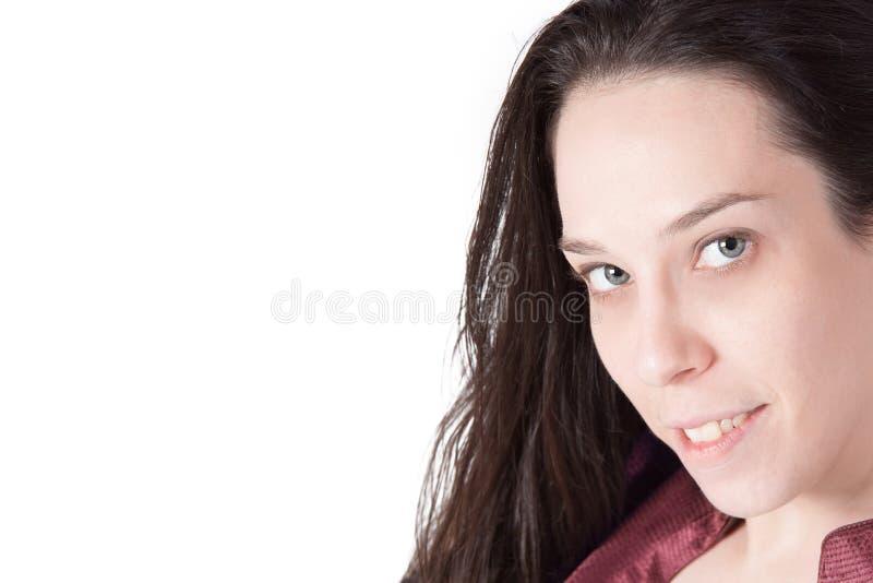 Señora joven envejecida centro imagen de archivo libre de regalías
