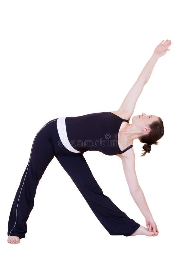 Señora joven hermosa que hace yoga fotos de archivo libres de regalías