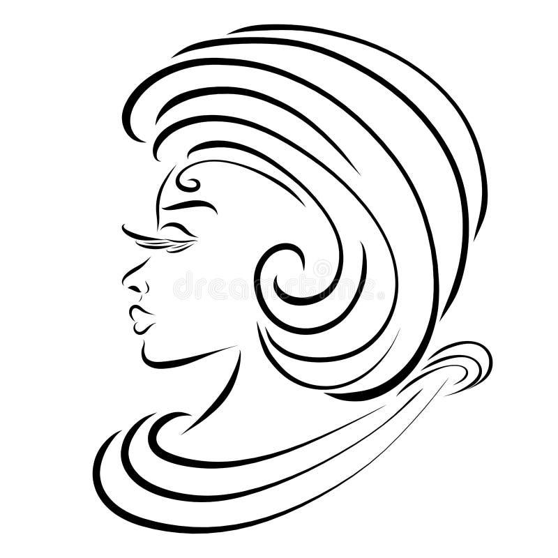 Señora joven orgullosa elegante del aspecto aristocrático libre illustration