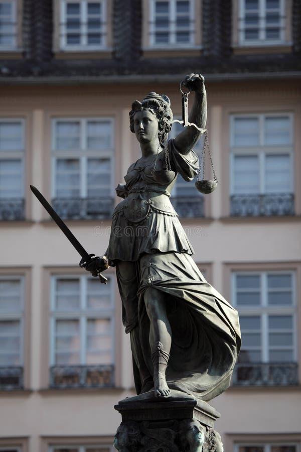 Señora Justice Statue imágenes de archivo libres de regalías
