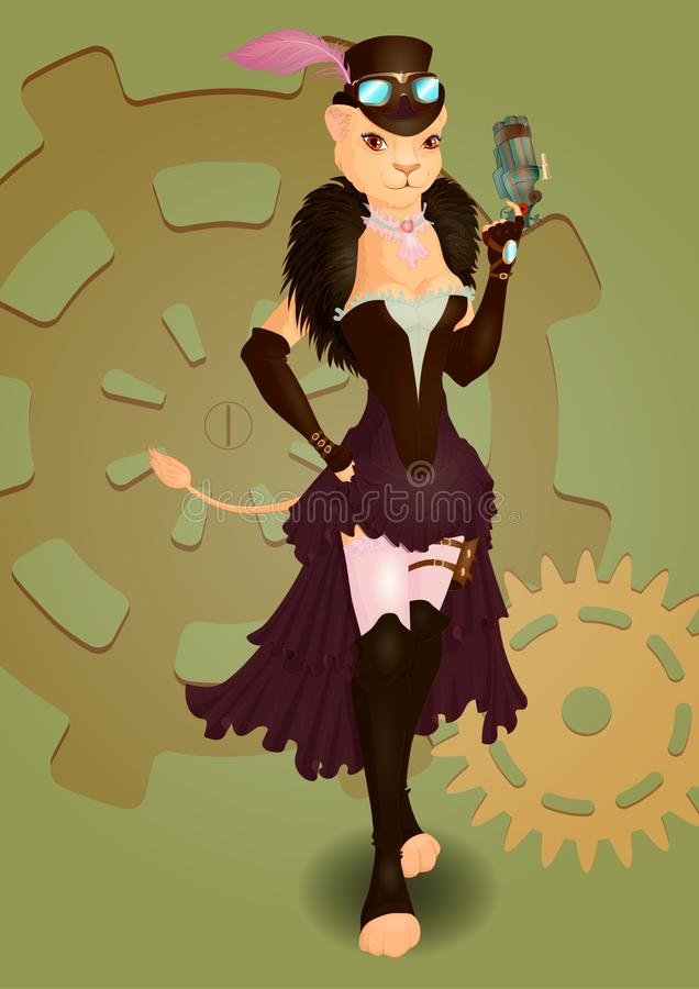 Señora Leo ilustración del vector