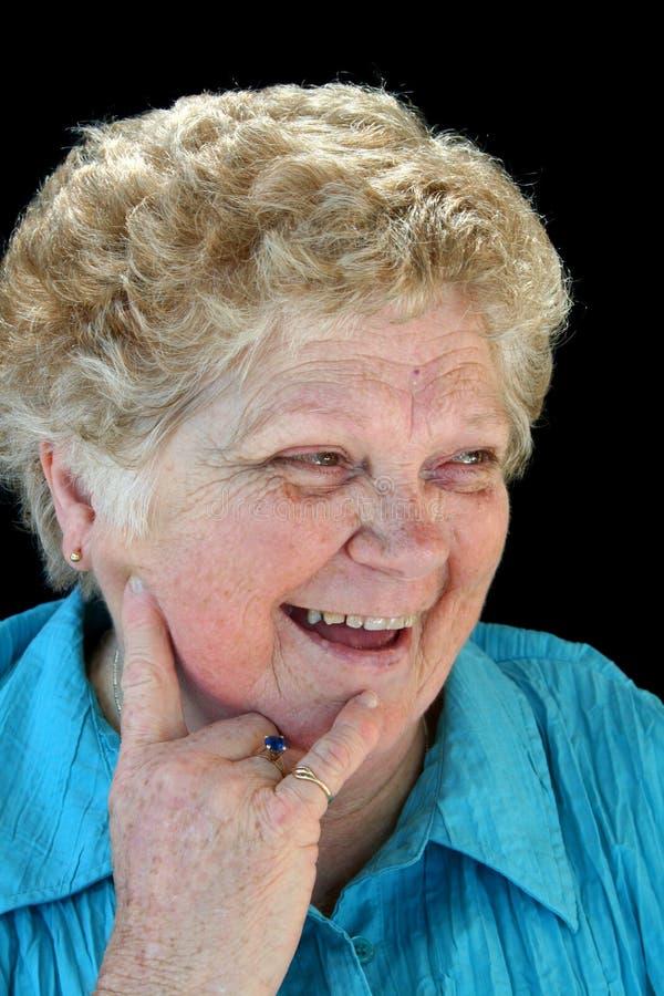 Señora mayor de emisión imágenes de archivo libres de regalías