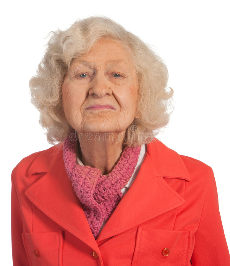 Señora mayor del retrato fotos de archivo