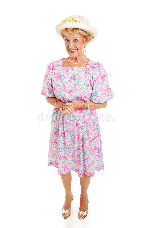 Señora mayor meridional - aislada imagen de archivo libre de regalías