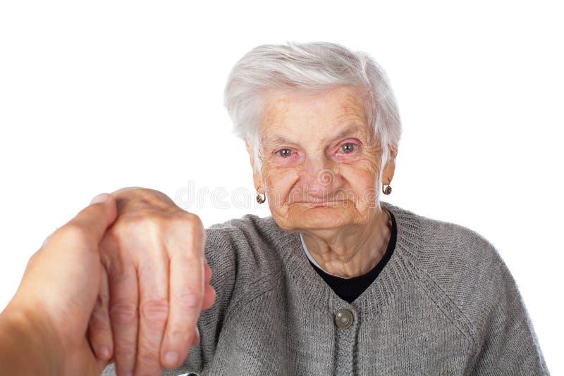 Señora mayor sola fotos de archivo
