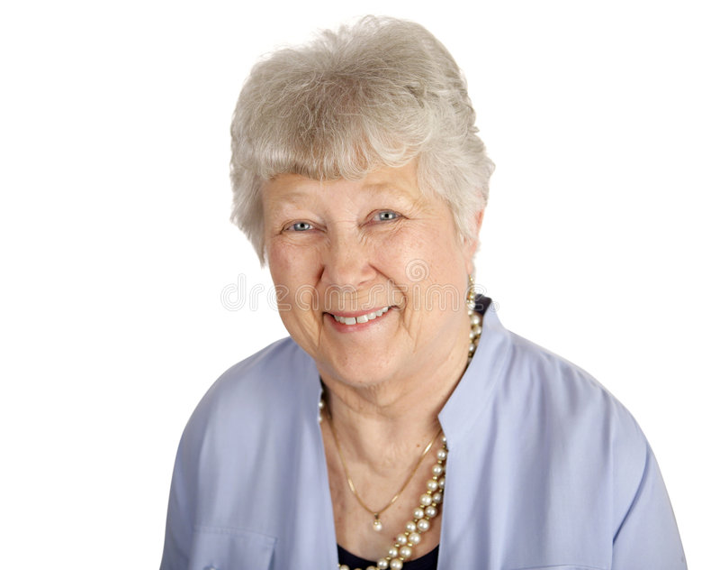 Señora mayor sonriente imagen de archivo libre de regalías