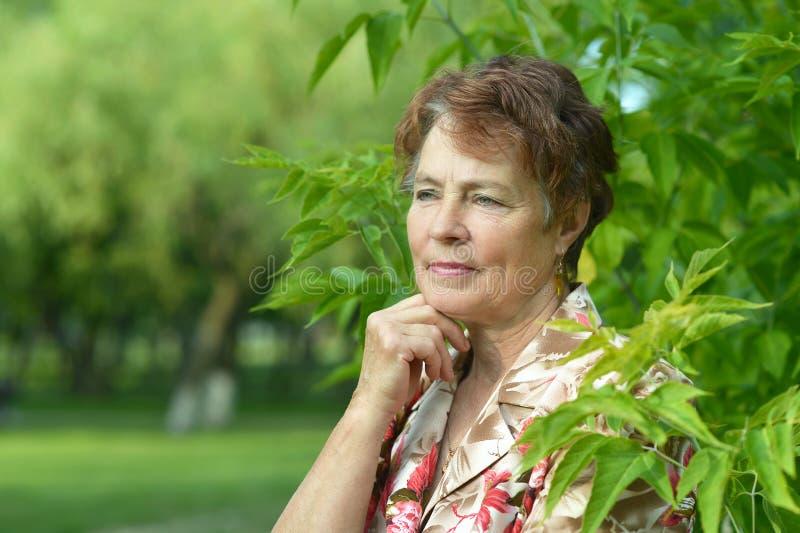 Señora que disfruta de verano fotografía de archivo libre de regalías