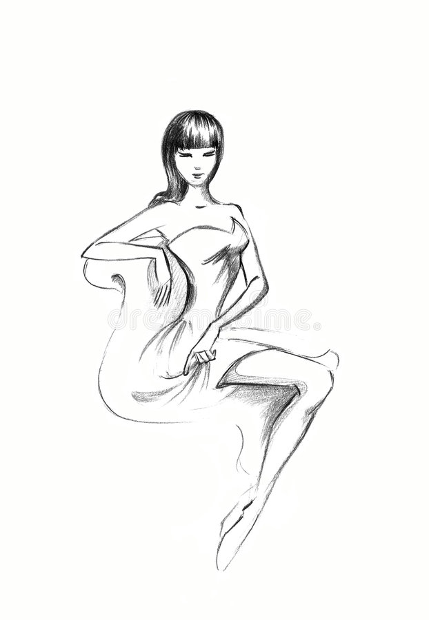 Señora refinada libre illustration