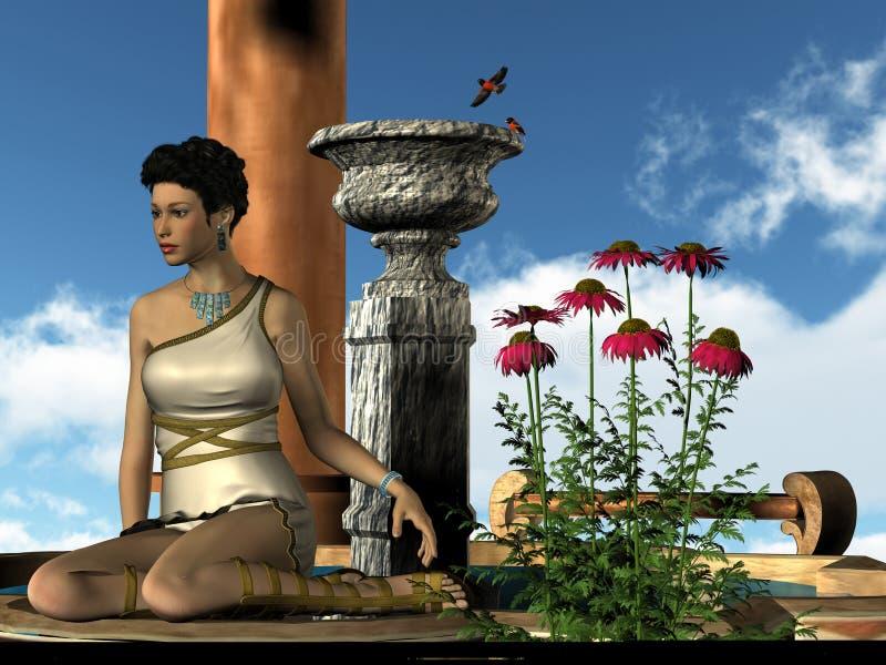 Señora romana 01 libre illustration