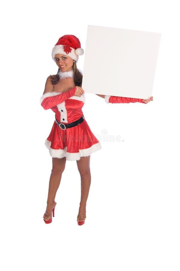 Señora Santa Blank Sign fotos de archivo libres de regalías