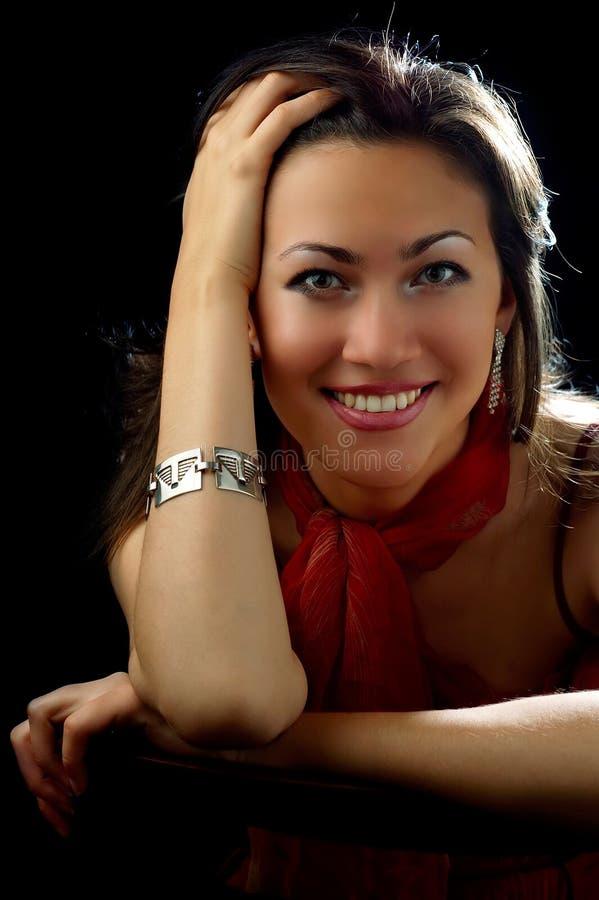 Señora sonriente imágenes de archivo libres de regalías