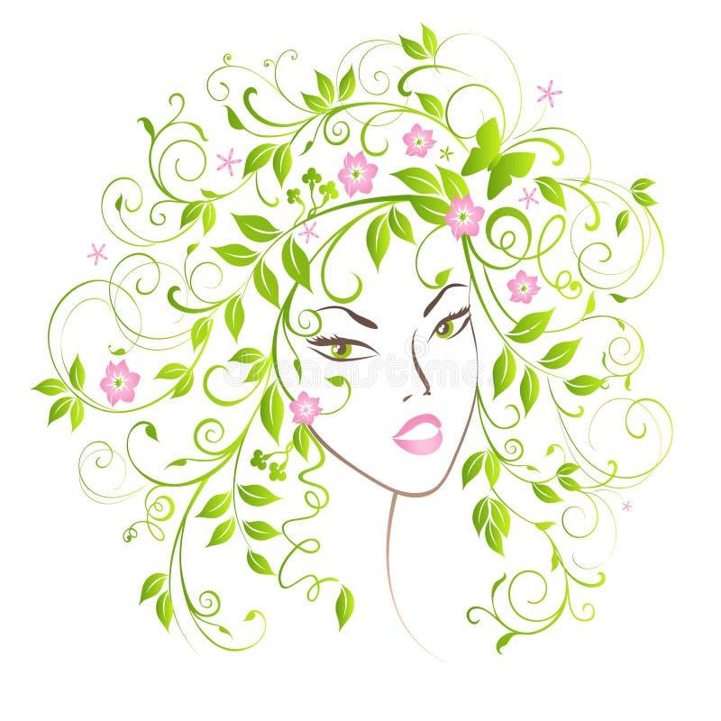 Señora Spring. stock de ilustración
