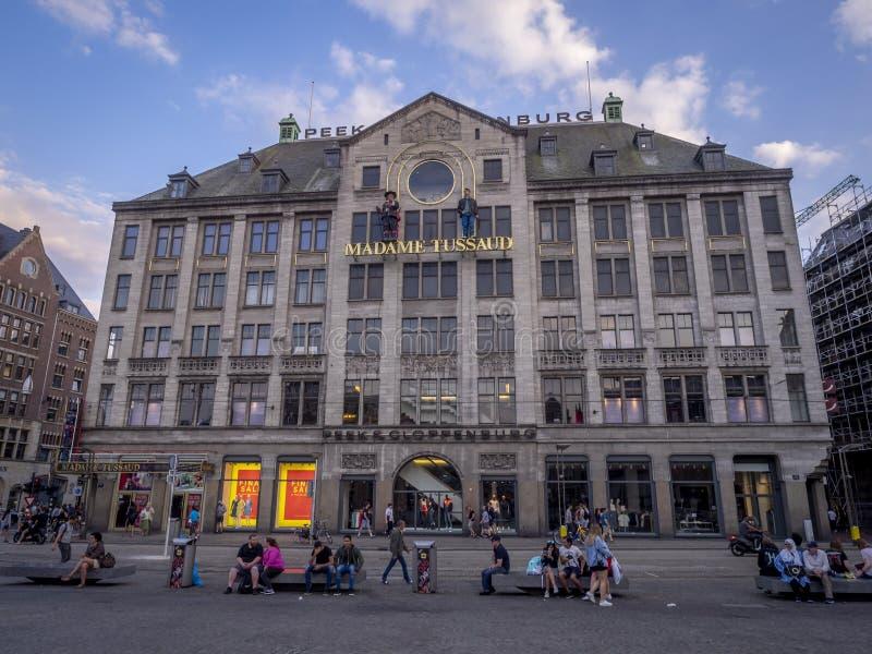Señora Tussauds en el cuadrado de la presa, Amsterdam foto de archivo libre de regalías
