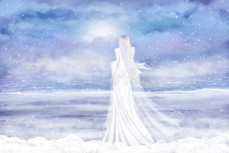 Señora Winter stock de ilustración