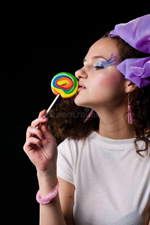 Señora y caramelo imágenes de archivo libres de regalías