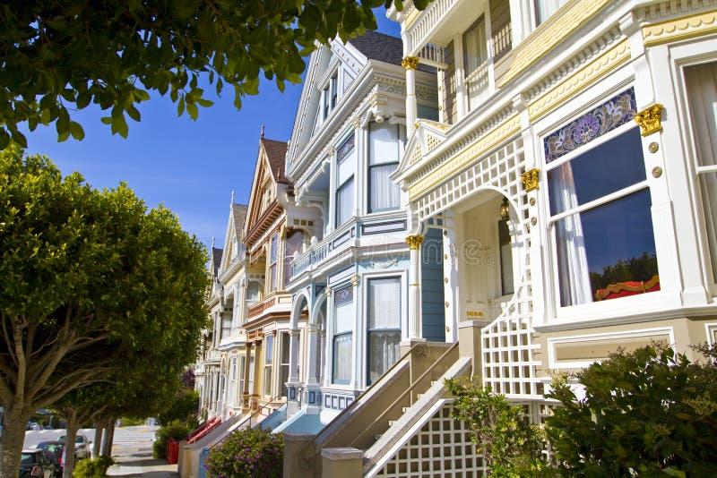 Señoras pintadas en San Francisco imagen de archivo libre de regalías