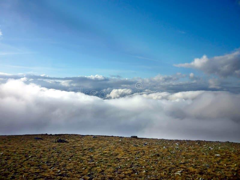 Se över moln från Helvellyn fotografering för bildbyråer