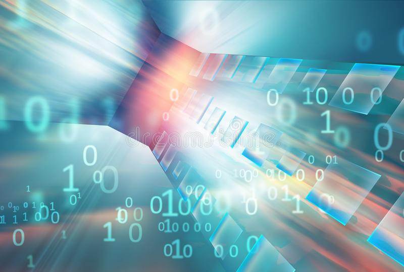 Se концепции предпосылки абстрактных высокотехнологичных данных перенося иллюстрация вектора