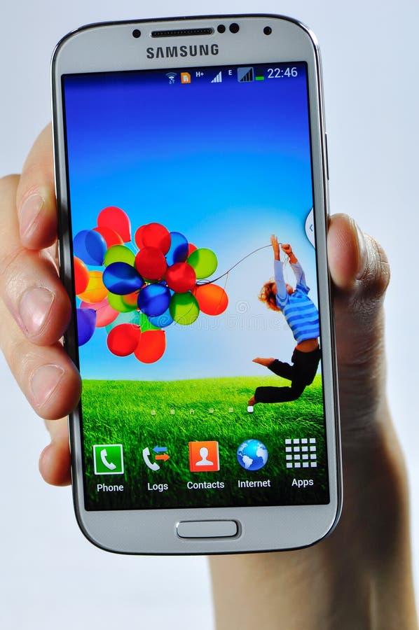 Se aísla la galaxia S4 de Samsung foto de archivo libre de regalías