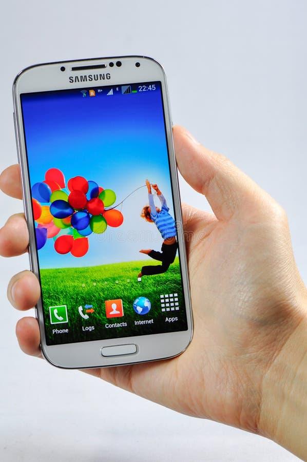 Se aísla la galaxia S4 de Samsung imagenes de archivo