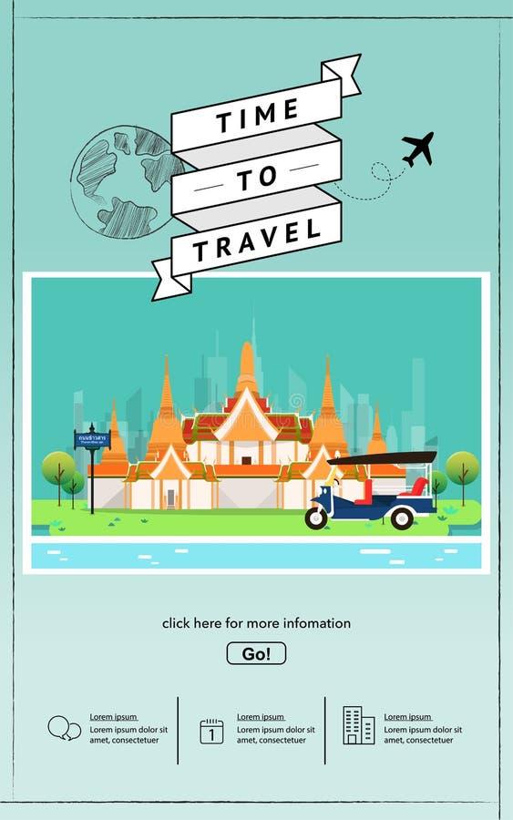 Se?ales de la atracci?n en plantilla de la p?gina web de Tailandia imagen de archivo libre de regalías