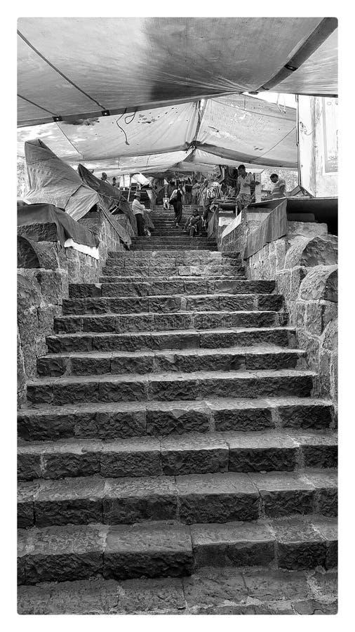 Se alltid upp i liv, öst av Mumbai, Indien royaltyfria bilder