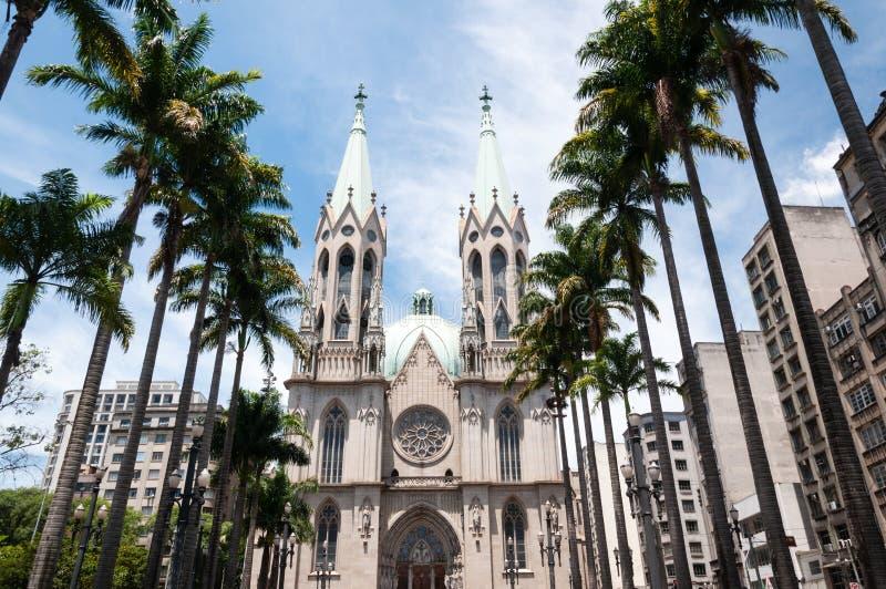 Se Cathedral Sao Paulo stock photo
